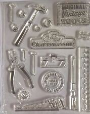 18 Vintage Tool Hammer Clear Silicone Stamp Man Card Making Scrapbooking Journal