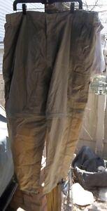 Work N' Sport Men's Size 2X Nylon Zip-Off Cargo Pant/short combo Very Nice!