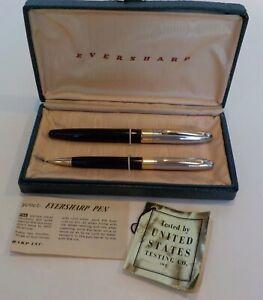 Vintage Wahl Eversharp SYMPHONY II Fountain Pen Pencil Set Engraved MIKE 14k Nib