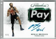 2018-19 Panini Flawless Mikal Bridges Auto Patch Emerald 4/5 Phoenix Suns