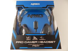 KMD Dual Ear Pro Gaming Headset With Microphone For PS4 Black New