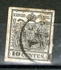 austria lombardy venetia 10 soldi machine paper SC# 3c VERY RARE!!
