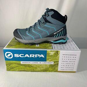 Scarpa Maverick Mid GTX Womens Hiking Boots Gray/Aqua Size 8