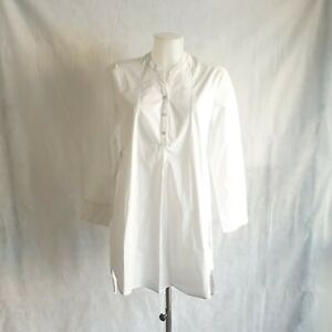 New Isabella Oliver Blouse Size 2 Women Maternity White Cotton Tie Back 123817