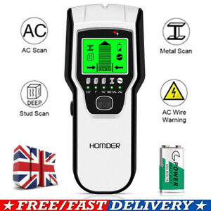 5 in 1 Electric Wire Stud Sensor Finder Wall Scaner Wood Metal Cable Detector UK