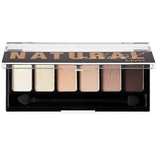 NYX The Natural Shadow Palette, 6 Eyeshadow Shades with Sponge Applicator