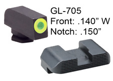 AmeriGlo Protector Glock 42 43 Green Trit LumiLime Front Serrated Rear Sight Set