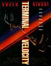 TERMINAL VELOCITY MOVIE POSTER 2 Sided ORIGINAL 27x40 CHARLIE SHEEN
