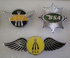 BSA MOTORCYCLE MOTORBIKE 3 x Top Quality Enamel Lapel Pin Badges RIFLES