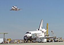 Space Shuttle Endeavour Runway PHOTO Columbia on 747 SCA AIrcraft Overhead
