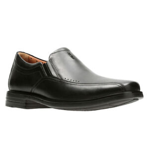 Clarks Men's 28694 Unstructured Un.Sheridan Go Black Leather Slip On Dress Shoe