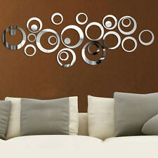 24 Stück Kreis Acryl Kunststoff Spiegel Wand Home Decor Vinyl Kunst Aufkleber