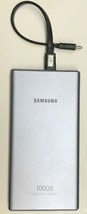 Samsung - 10,000 mAh Portable Charger for Most USB Enabled Devices - Silver