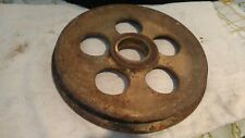 vintage metal pulley / wheel with brass o ring farmhouse decor