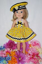 """DOLL CLOTHES FIT A,G, 14"""" WELLIE WISHERS NEW, HANDMADE IN THE USA.,BY GRANDMA"""