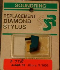 Record Player Needle Stylus Soundring 778 MICRO  Replacement Stylus