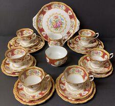 Royal Albert Lady Hamilton 21 Piece Tea Set