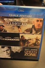 Jarhead / The Kingdom / Green Zone Triple Feature Blu-Ray new sealed