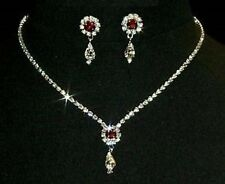 Silver Plated Stone Costume Jewellery Sets