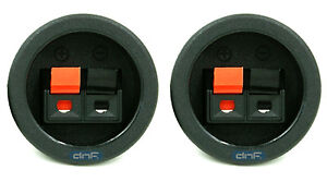 (2 PACK) SPEAKER BOX  PUSH SPRING TERMINAL CUP CONNECTOR SUBWOOFER - SHIPS TODAY