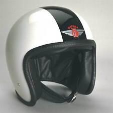 Davida 92 Open Face Motorcycle Helmet Two Tone White / Black | All Sizes