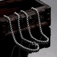"""5PCS Lot MENS Chain Stainless Steel Silver Tone Curb Link Necklace 2MM 18"""" 20"""""""
