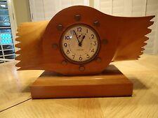 WWII Original Westclox WarAlarm Clock in Sensenich Wooden Airplane Propeller