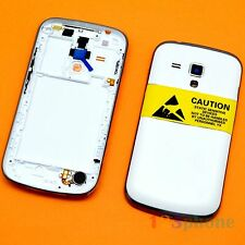 FRAME CHASSIS + BACK COVER FULL HOUSING FOR SAMSUNG GALAXY S DUOS S7562 #WHITE