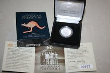 (PL) 2009 AUSTRALIA $1 FINE SILVER PROOF COIN - 60 YEARS CITIZENSHIP ROYAL MINT
