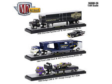 AUTO HAULERS RELEASE 26 3 TRUCKS SET 1/64 DIECAST MODELS BY M2 MACHINES 36000-26
