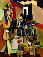 The Visit by Max Weber 75cm x 56.4cm High Quality Canvas Art Print
