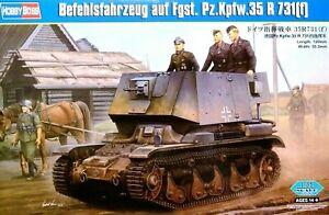 Hobbyboss 1:35 Befehlsfahrzeug auf Fgst. Pz.Kpfw.35 R 731(f) Tank Model Kit