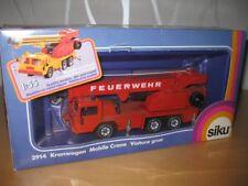 Siku 2914 3127 Kranwagen FAUN Feuerwehr alte Räder von 1985-1994 OVP