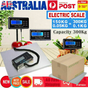 Commercial Electric Scales Digital Platform Postal Scale Weighing 0.1-300 KG NEW