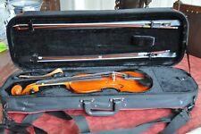 Violine/Geige, Größe 3/4 mit 2 Bögen, Stütze und Kasten ( deutscher Geigenbauer)