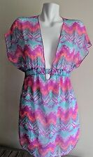 NWT Miken Swim Swimsuit Bikini Cover Up Dress Tunic Size S Mermaid Blue