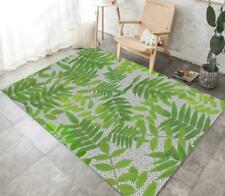 3D Green Branch Leaves Non-Slip Rug Door Shower Play Mat Hearth Floor Carpet 93