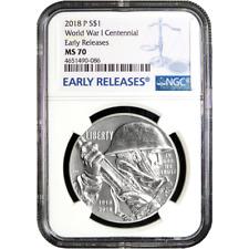 2018-P Proof $1 World War I Centennial Silver Dollar NGC PF70UC TravisMills.org
