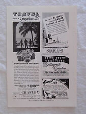 1956 Magazine Advertisement Page For Graflex Graphic 35 Camera & TSS Olympia Ad