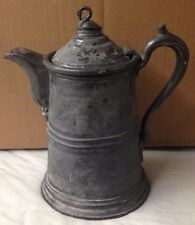 antique 1800s REED & BARTON DOUBLE WALLED PITCHER (STIMPSONS PATENT 1854) silver