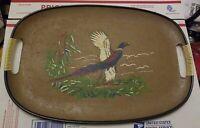 Vintage MCM Pheasant in Flight tray