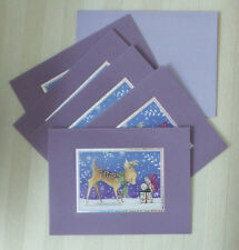 Burgoyne Christmas Cards Reindeer Snowflakes Unexpected Joys of Season 5 Cards