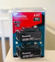 (2-PACK) Genuine Makita BL1850B 18V LXT Lithium-Ion Batteries 5.0Ah NEW IN PACK