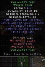 Guillaume's Face Set Helm | Guillaumes Gesicht | Diablo 2 Resurrected D2R SC PC