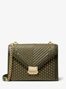 Michael Michael Kors Whitney Large Studded Leather Convertible Shoulder Bag NWT!