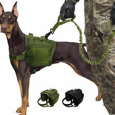 K9 Dog Tactical Harness Leash Molle Canine Vest Hunting Training Military Strap
