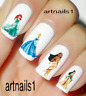 Disney Princess Nail Cinderella Art Water Decals Stickers Manicure Salon Polish