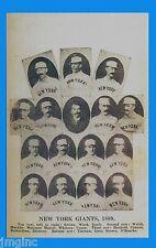 New York Giant 1889 Team - Postcard reproduction