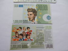 €1,000,000 FOOTBALL banknote One Million Soccer Novelty Fantasy Bill Joke Note