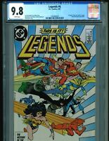 Legends 6 CGC 9.8 WHITE Pages 1987 BIN $85!!! FREE SHIP!! New Justice League!!!